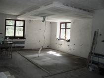 příprava stropu pro osvětlení a digestoř