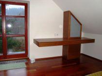 psací stůl, mořená dubová dýha