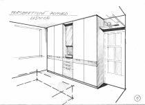 návrh ložnice,skříně Praha