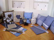 dekorativní textil do roubenky