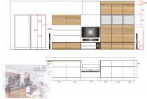 návrh-obývací pokoj Praha 6